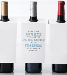 "Design with Heart Studio - Wine Bottle Gift Tags - ""Here's to the nights…"""