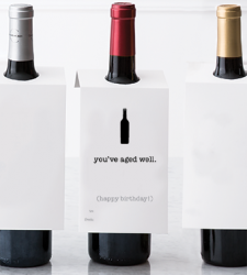 "Design with Heart Studio - Wine Bottle Gift Tags - ""You've Aged Well."""