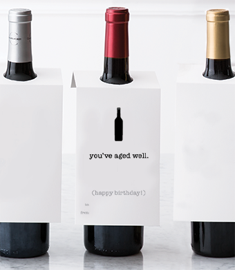 """Design with Heart Studio - Wine Bottle Gift Tags - """"You've Aged Well."""""""