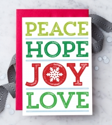 "Design with Heart Studio - New - ""Peace Hope Joy Love"""