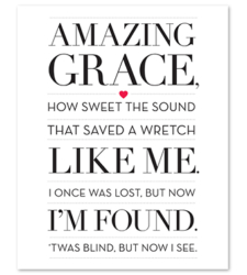 Design with Heart Studio - Amazing Grace Art Print