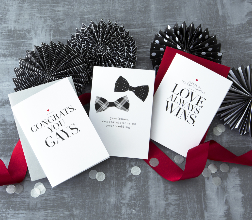 Gay lesbian holiday greeting cards