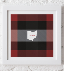 Design with Heart Studio - Art Prints Framed Plaid Ohio Art Print