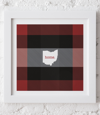 Design with Heart Studio - Art Prints - Framed Plaid Ohio Art Print
