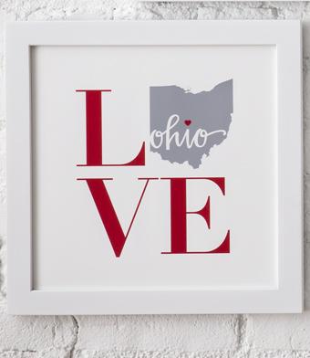 Design with Heart Studio - Art Prints - Framed Square LOVE Art Print