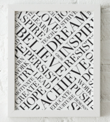 Design with Heart Studio - Art Prints Framed Dream Believe Achieve Art Print