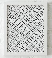 Design with Heart Studio - Art Prints Framed Dream Believe Achieve Art Print