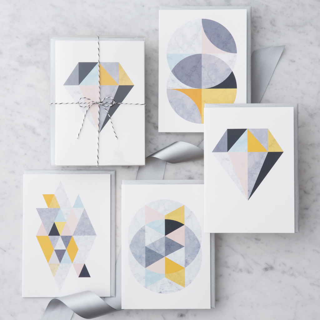 Marble Greeting Cards Design With Heart Studio
