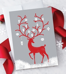 Design with Heart Studio - New - Reindeer With Ornaments