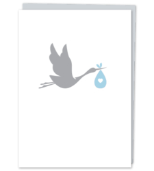 Design with Heart Studio - Greeting Cards Baby Boy Stork