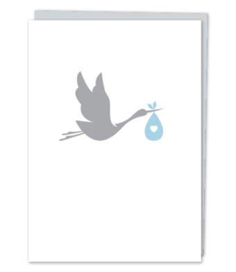 Design with Heart Studio - Greeting Cards - Baby Boy Stork