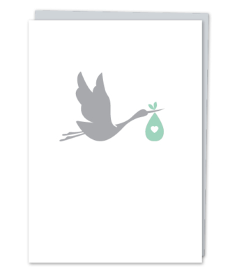 Design with Heart Studio - Greeting Cards - New Baby Stork