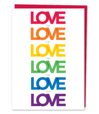 "Design with Heart Studio - Greeting Cards - ""Love is Love is Love"""
