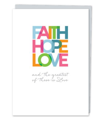 "Design with Heart Studio - Greeting Cards - ""Faith Hope Love"""