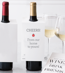 "Design with Heart Studio - Wine Bottle Gift Tags - ""From Our Home To Yours!"""