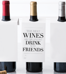 "Design with Heart Studio - Wine Bottle Gift Tags - ""The Best Wines"""