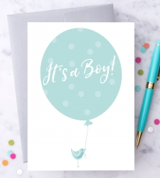 "Design with Heart Studio - Greeting Cards ""It's a Boy!"""