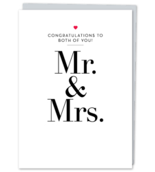 Design with Heart Studio - Greeting Cards Mr. & Mrs.
