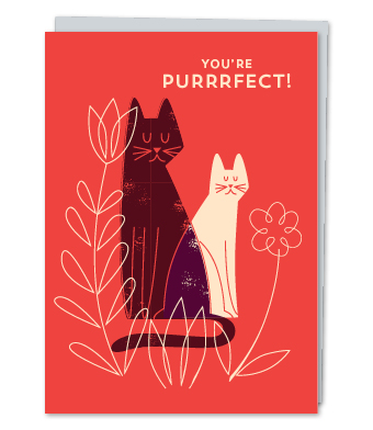Design with Heart Studio - Greeting Cards - You're Purrrfect!