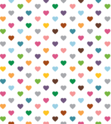 Design with Heart Studio - Giftwrap - Multi Hearts Giftwrap