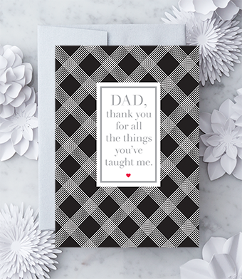 """Design with Heart Studio - Greeting Cards - """"Dad, thank you for all the things you've taught me."""""""