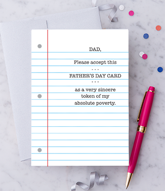Design with Heart Studio - Greeting Cards - Please Accept This Father's Day Card