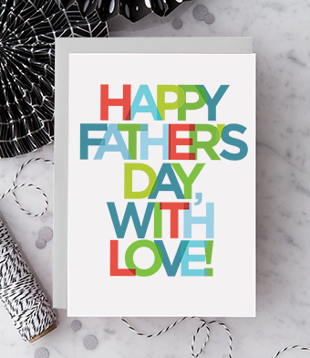 Design with Heart Studio - Greeting Cards - Happy Father's Day, With Love!