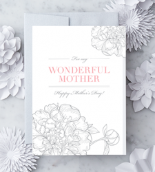 "Design with Heart Studio - New - ""For My Wonderful Mother. Happy Mother's Day!"""