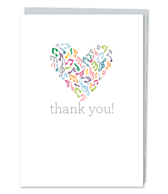Design with Heart Studio - Greeting Cards - Thank You Music Heart