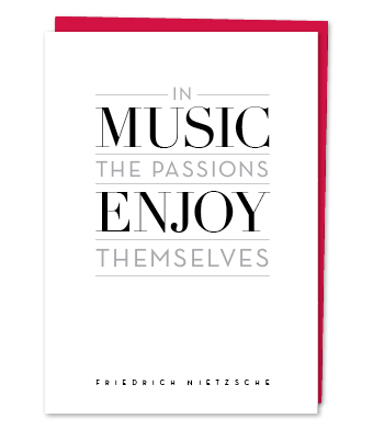 Design with Heart Studio - Greeting Cards - In Music The Passions