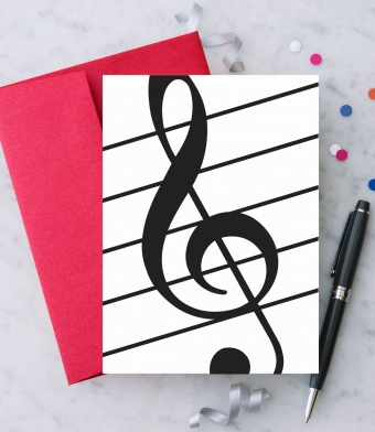 Design with Heart Studio - Greeting Cards - Treble Clef