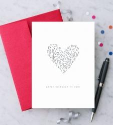 Design with Heart Studio - New - Birthday Music Heart