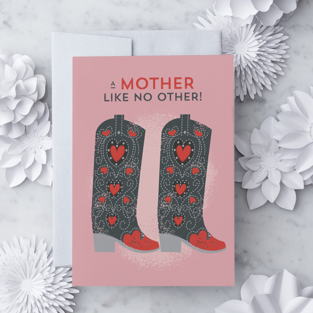 Mothers Day Greeting Card Design With Heart Studio