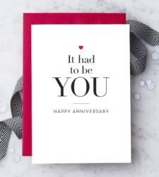 "Design with Heart Studio - Greeting Cards ""It had to be you"""