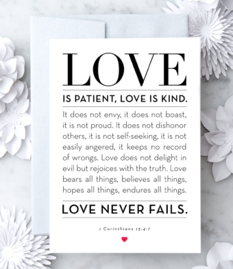 Design with Heart Studio - Greeting Cards - 1 Corinthians 13:4-7