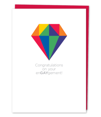 Design with Heart Studio - Greeting Cards - Congratulations on your enGAYgement!