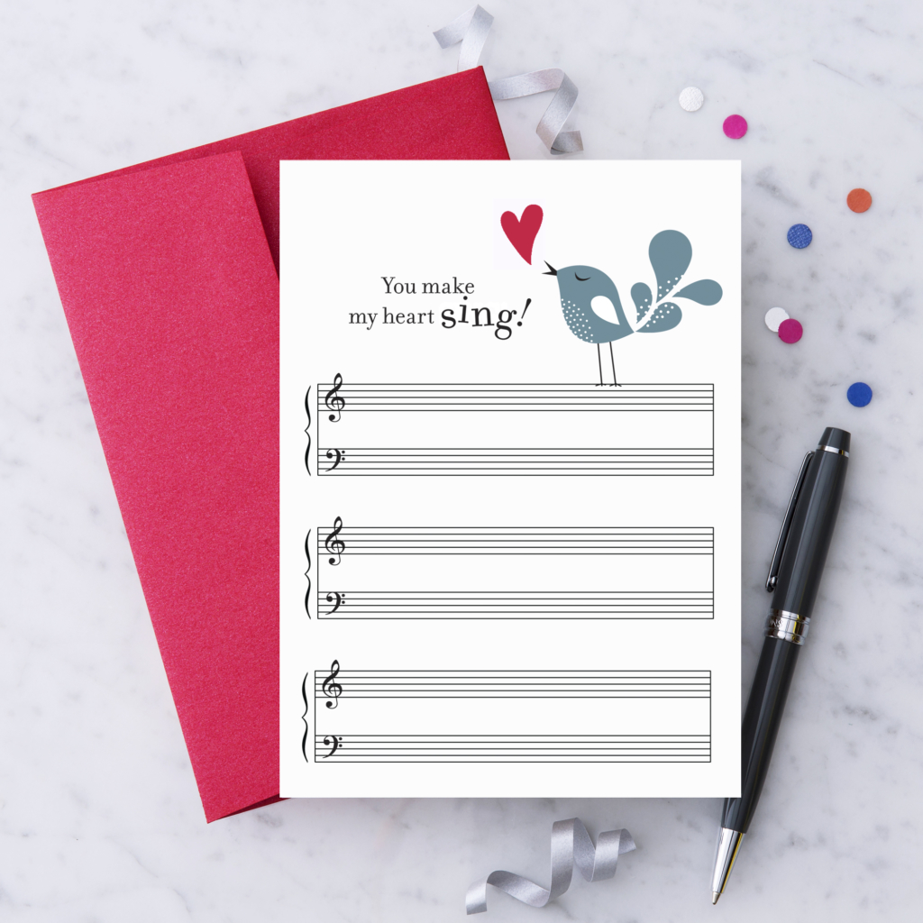 Music Greeting Cards By Design With Heart Design With Heart Studio