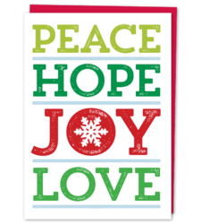 Design with Heart Studio - Holiday - Peace Hope Love Joy Box Set