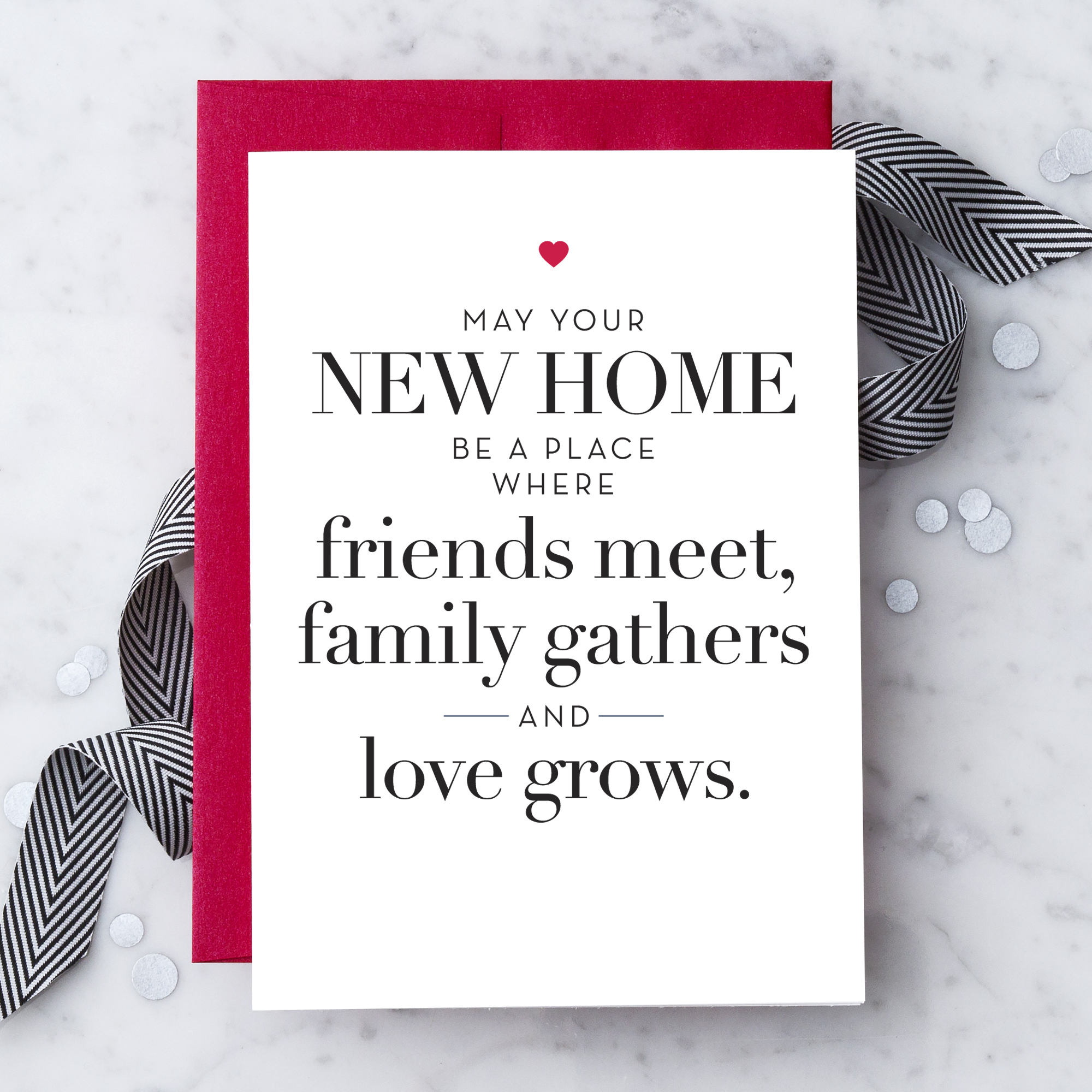 Housewarming Greeting Cards Design With Heart Studio