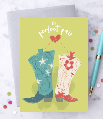 """Design with Heart Studio - Greeting Cards - """"The Perfect Pair"""""""