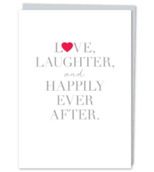 "Design with Heart Studio - New - ""Love Laughter & Happily Ever After"""