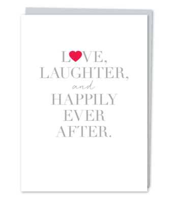 """Design with Heart Studio - Greeting Cards - """"Love Laughter & Happily Ever After"""""""