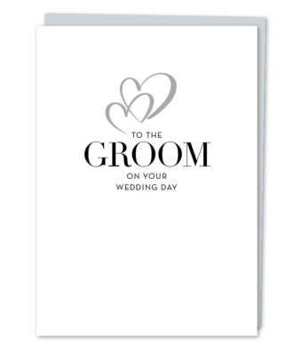 """Design with Heart Studio - Greeting Cards - """"To The Groom"""""""