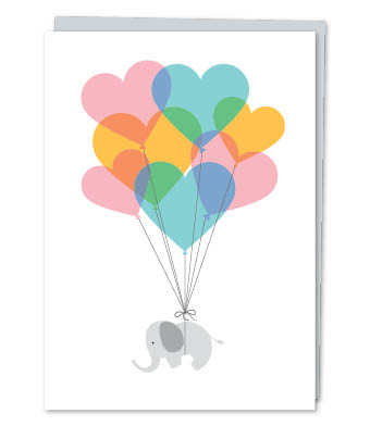 Design with Heart Studio - Greeting Cards - Baby Elephant