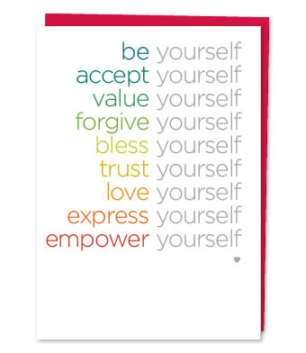 Design with Heart Studio - Greeting Cards - Be Yourself (With Verse)