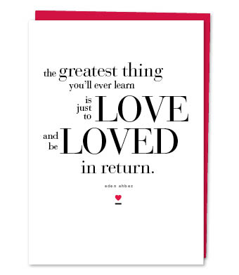 Design with Heart Studio - Greeting Cards - the greatest thing… (With Verse)