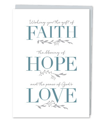 Design with Heart Studio - Greeting Cards - Wishing You The Gift Of Faith