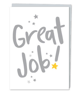 "Design with Heart Studio - Greeting Cards - ""Great Job!"" (With Verse)"