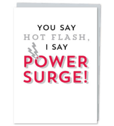 "Design with Heart Studio - New - ""You Say Hot Flash, I Say Power Surge!"""