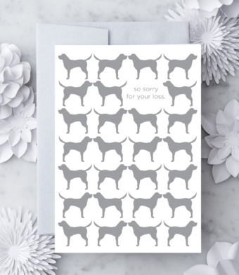 Design with Heart Studio - Greeting Cards - So Sorry For Your Loss – Dog